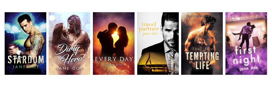 premade romance book covers