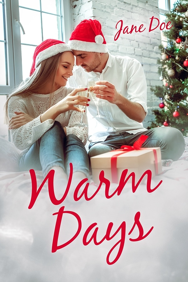 christmas premade book cover