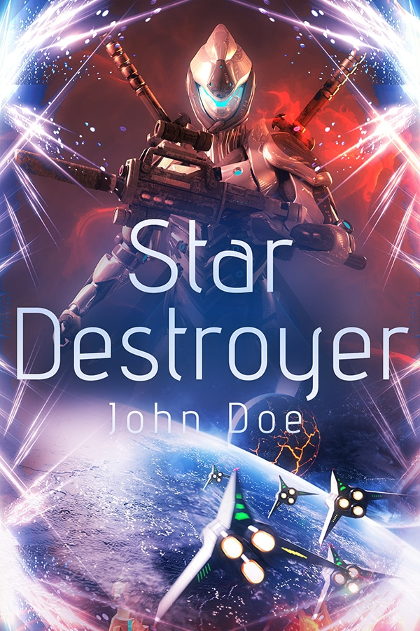military scifi premade book cover