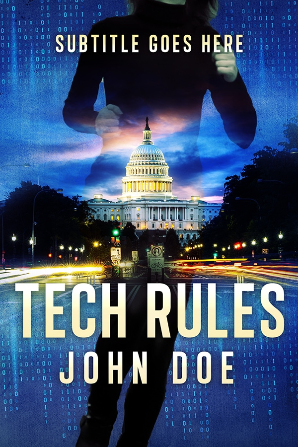 premade political thriller book cover