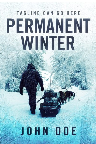 winter premade book cover